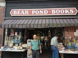 Hector Outside Bear Pond Books
