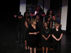 The funeral with Kim Coles.