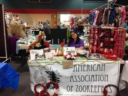 Our craft table set up at the Adorni Center