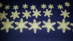 Gumpaste Snowflakes