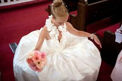 Ball gown in silk