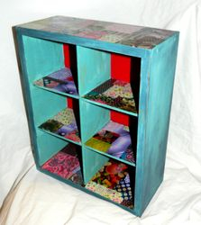 Small decoupaged shelves