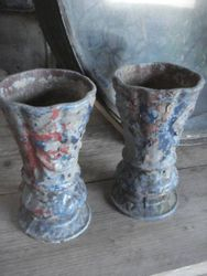 #15/392 Pair of Cast Iron Vases