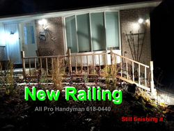 New railing - Oct-Nov 2015