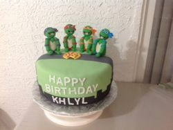 Khalyl 's Ninja Turtle Birthday Cake