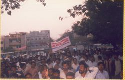 Rally demanding modernization