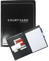 "Writing Portfolio - Interior Organizer with Pen Loop and 8 x 11"" Writing Pad"
