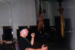Wayne conducts an EVP session