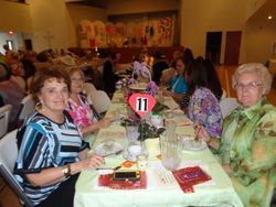Table of ladies at the 2015 tea Party.