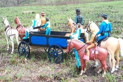 1/6 scale horse drawn work wagon