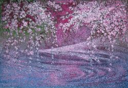 Cherry Blossom on Water 2