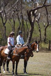Colleen & liz enjoying a ride in the back paddock
