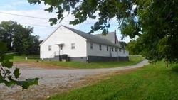 Fellowship Hall from creek bank
