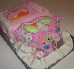 Pink Diaper Bag Cake