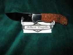 Albert Trujillo-Amboyna Burl Scales-S30V Steel-Custom File Work