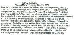 Kimmel, Illa J. Creighton 2000