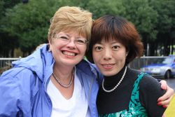 Lynda with local guide in Wuxi