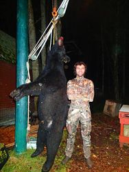 Travis with his first bear ever, 2014
