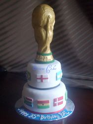FIFA 2010 World Cup trophy cake (SP009)