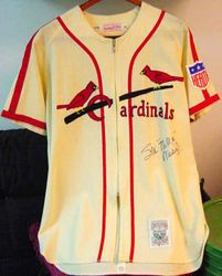 STAN MUSIAL SIGNED AUTHENTIC JERSEY PSA-DNA CERTIFIED