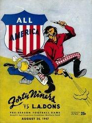 1947 San Francisco 49ers vs. L.A. Dons