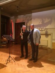 With Marco Gerboni at a Performance of my A Composition's Soliloquy
