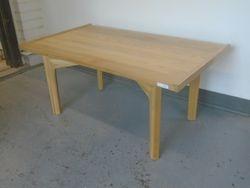 "Cross braced table: 17""high x 37""wide x 22""deep  $80.00"