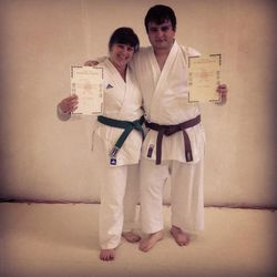 Janet and Richy grading pic