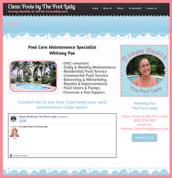 Clean Pools by The Pool Lady Website