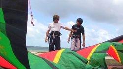 Inflating kite