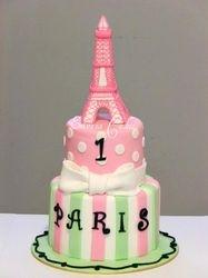 Poodle in Paris Cake