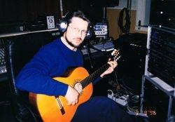 At the Recording Studio, Minsk, Belarus, 1996