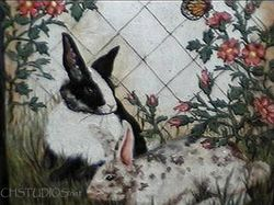 Bunny Custom Pet Portraits-Furniture & Accessories