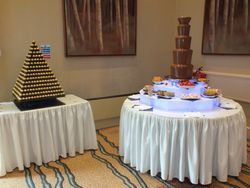 Ferrero Rocher Pyramid and a 5 tier chocolate fountain at the double tree by Hilton sheffield