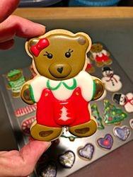 Girl Teddy Bear Cookie!