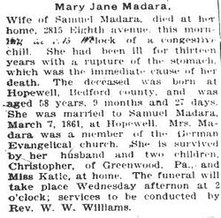 Madara, Mary Jane 1897