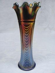 """Drapery Variant 8 3/4"""" vase, blue"""