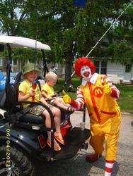 Ronald McDonald visits