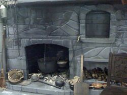 close up of the hearth