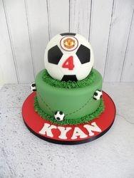 Football themed Birthday cake