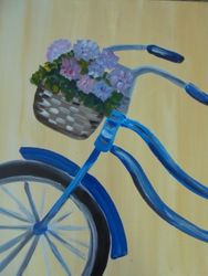 Bicyle with Basket of Flowers