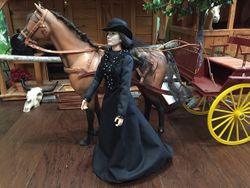 Black riding habit by Rosemarie
