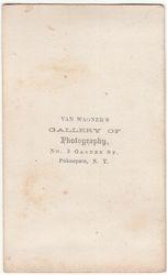 Van Wagner, photographer,of Pokeepsie, NY - back
