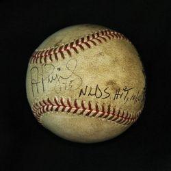 2009 Albert Pujols Game Used NLDS Postseason Baseball Hit 10/10/09 and Signed by Albert Pujols