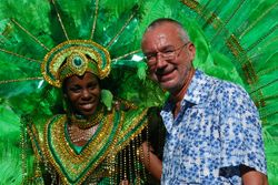 John chats up a carnival queen!