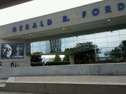 Gerald R. Ford exhibit at Museum.
