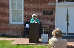 Joan Wehner Dedicates the Exhibit