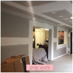 Jan 15 - extension paint prep work