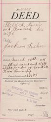 Property Deed from Philip A. Norris to Jackson Fisher - Page 1