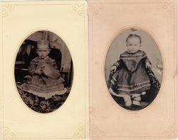 Pair of 1/9 plate tintypes
